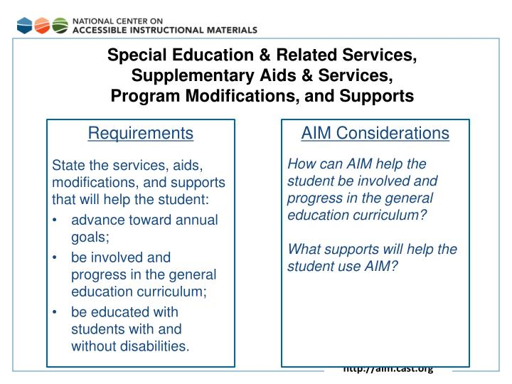 Special Education & Related Services,