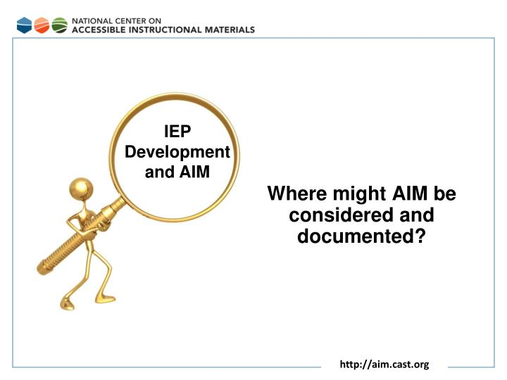 Where might AIM be considered and documented?