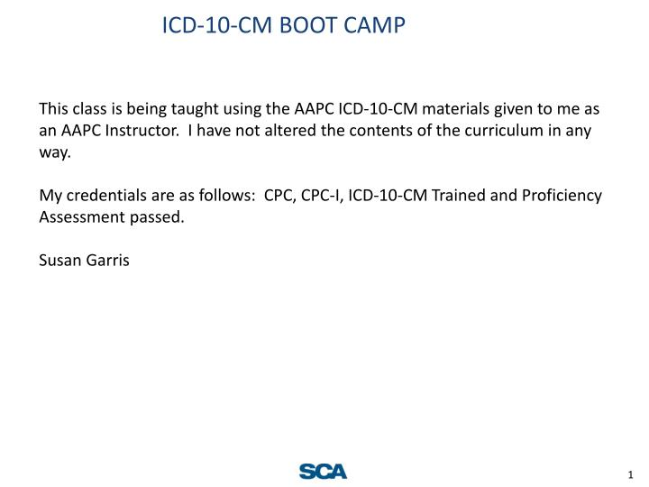 Icd 10 cm boot camp