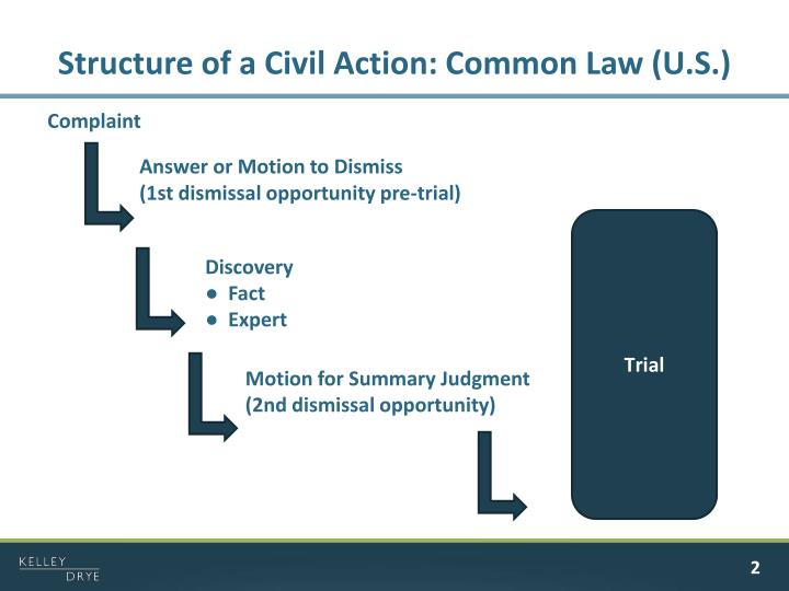 Structure of a civil action common law u s