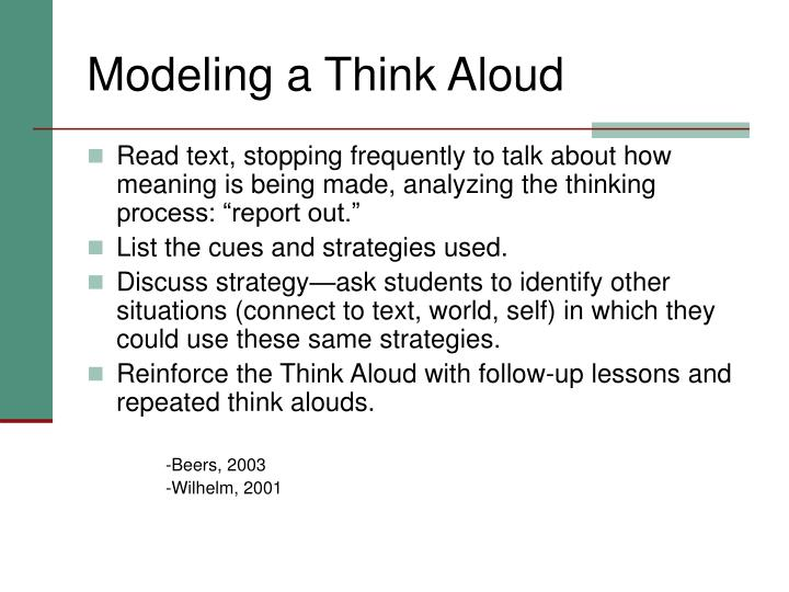 Modeling a Think Aloud