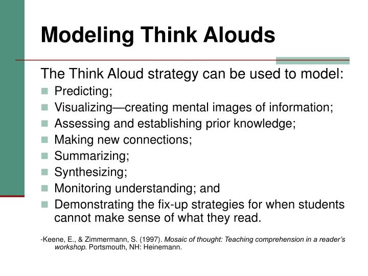 Modeling Think Alouds