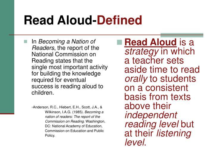 Read aloud defined