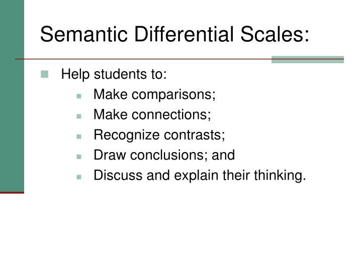 Semantic Differential Scales: