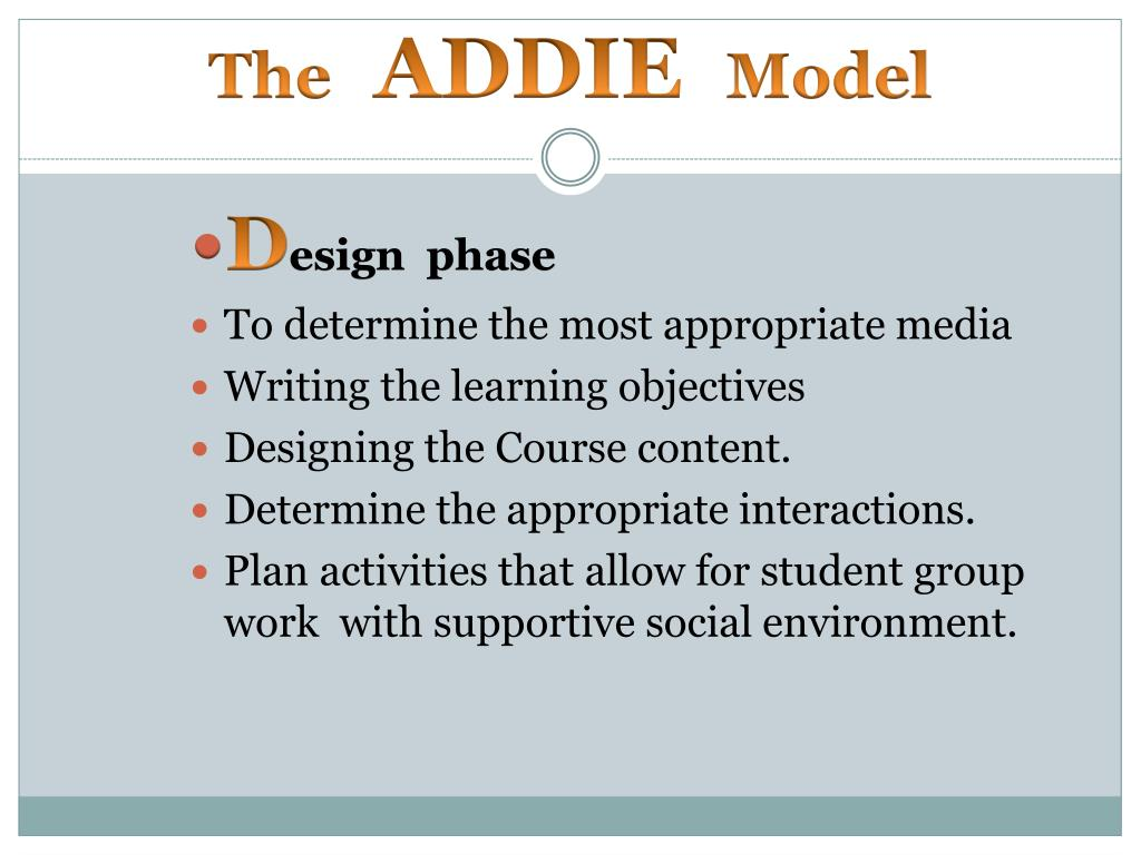 PPT - The ADDIE Model PowerPoint Presentation - ID:6398443
