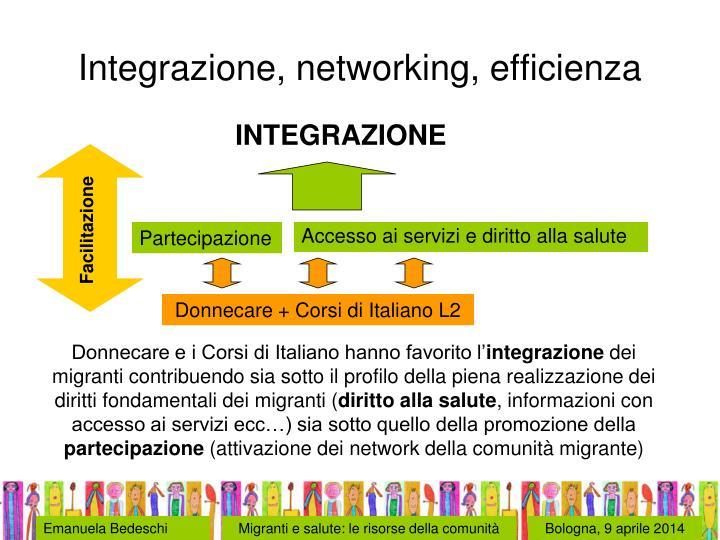 Integrazione, networking, efficienza