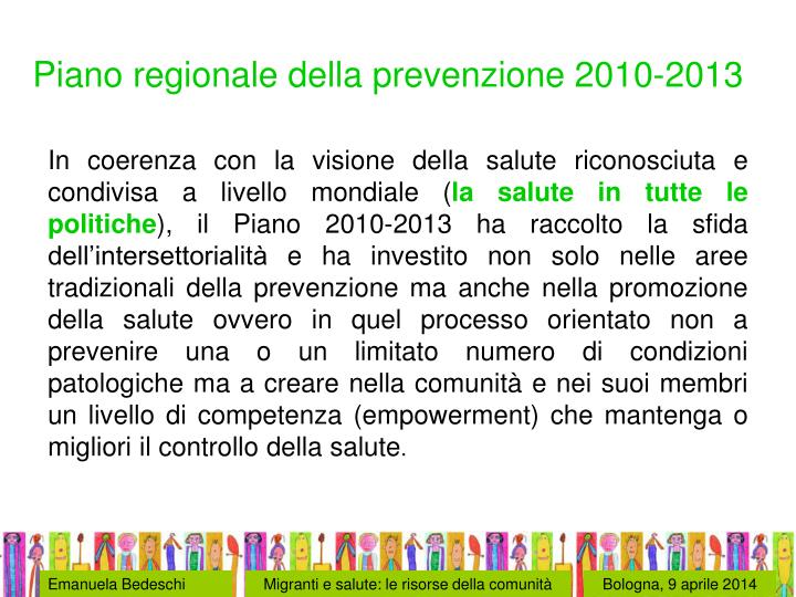 Piano regionale della prevenzione 2010-2013