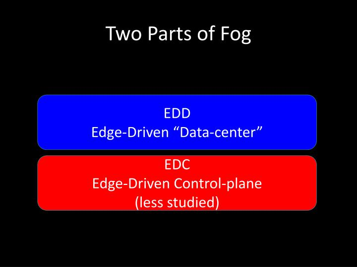 Two Parts of Fog