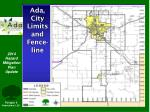 ada city limits and fence line