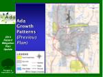 ada growth patterns previous plan