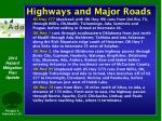 highways and major roads