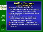 utility systems from 2008 mhmp