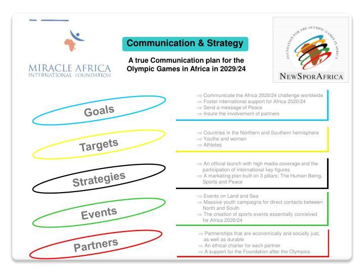 Communication & Strategy