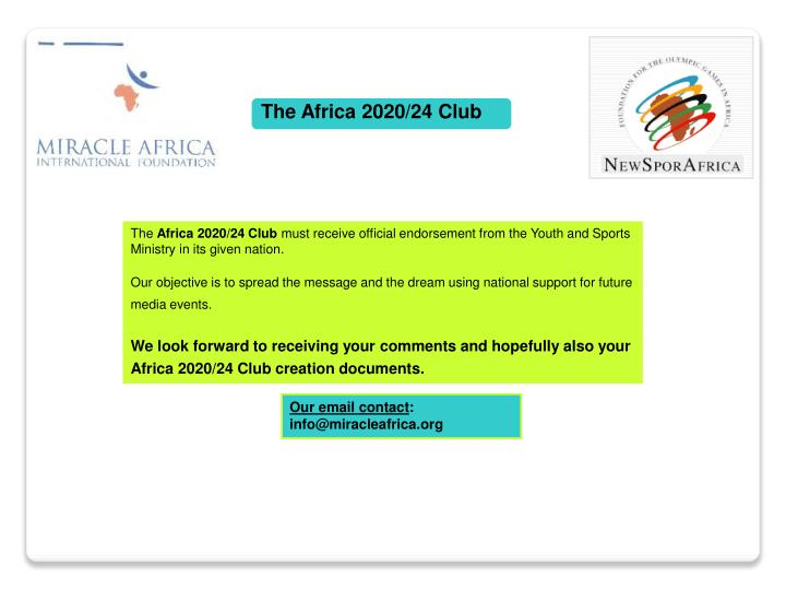 The Africa 2020/24 Club