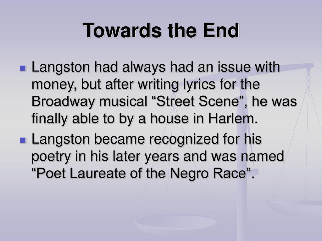 PPT - James Langston Hughes PowerPoint Presentation - ID:6398989