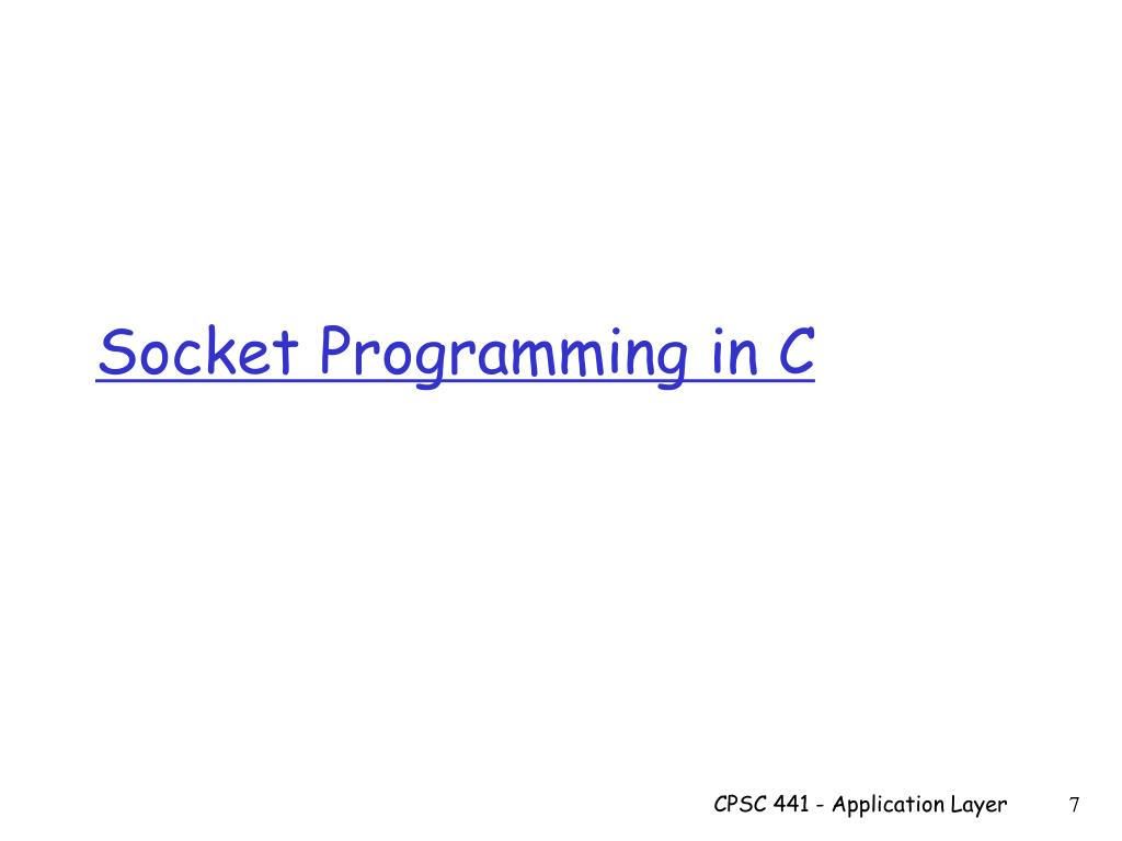 PPT - TCP Socket Programming PowerPoint Presentation - ID