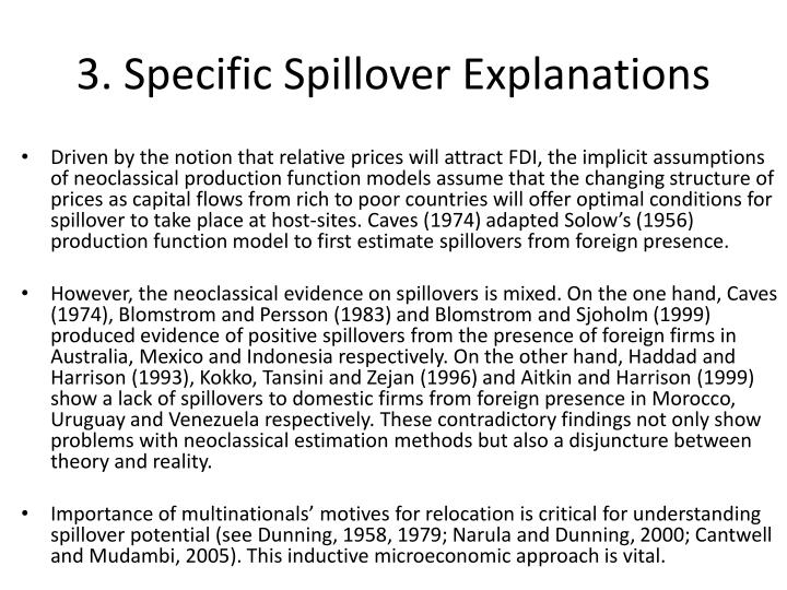 3. Specific Spillover Explanations