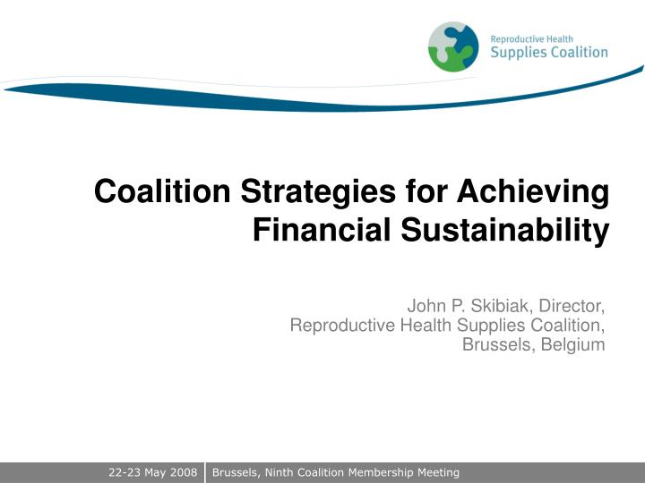 coalition strategies for achieving financial sustainability n.