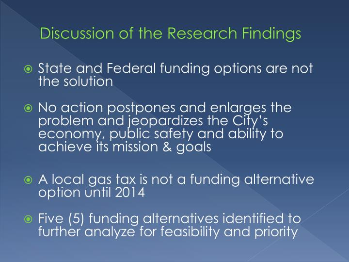 Discussion of the Research Findings