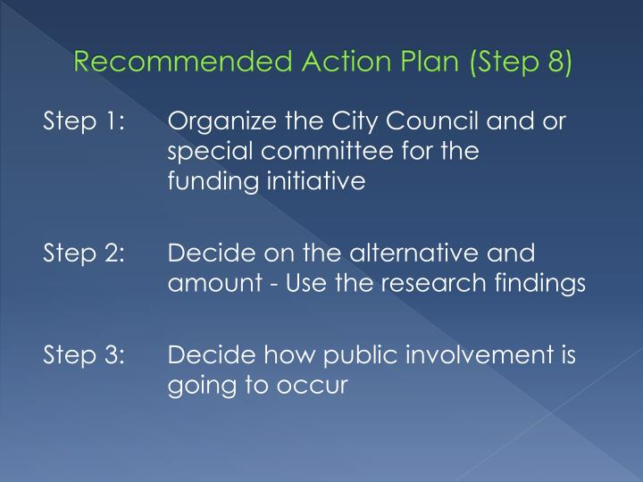 Recommended Action Plan (Step 8)