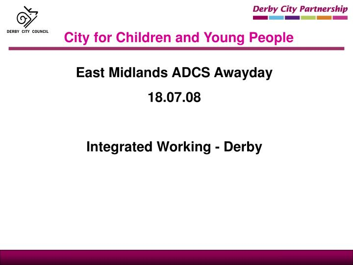 city for children and young people n.