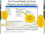 use visual studio to create windows based applications