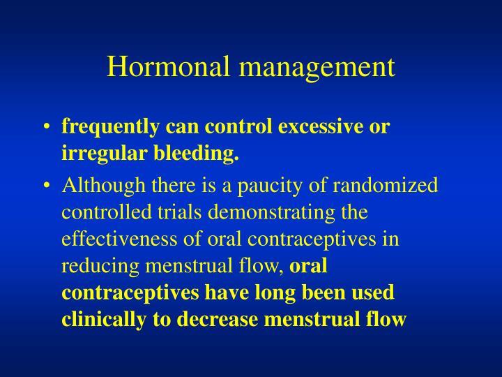 Hormonal management
