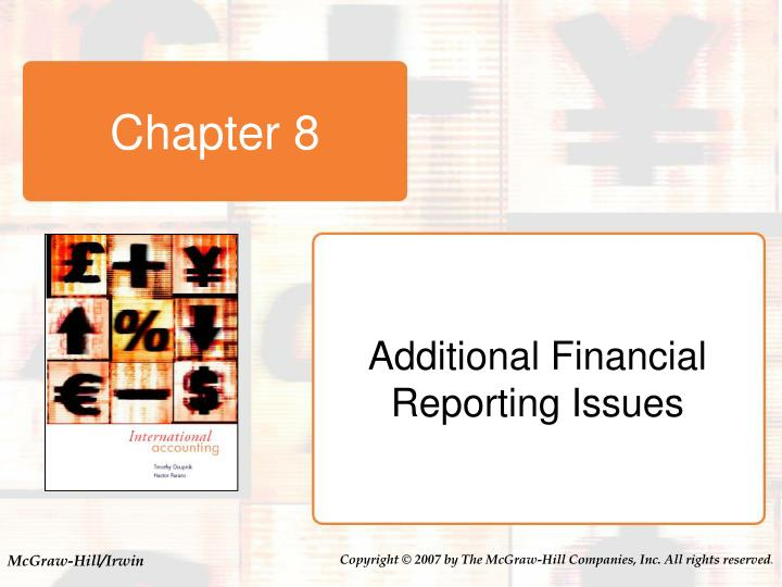 introduction to international accounting The international financial accounting standards (ifrs) is an alternative way to report financials this article ernst & youngs us gaap vs ifrs: the basics compares the two methods of financial reporting.