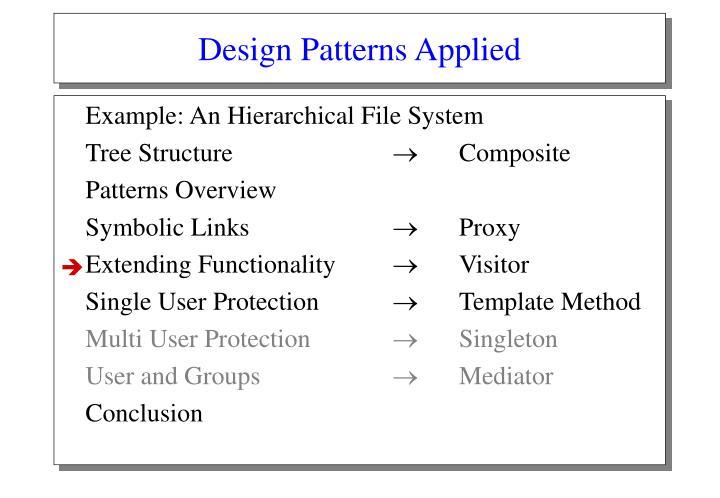 Design Patterns Applied