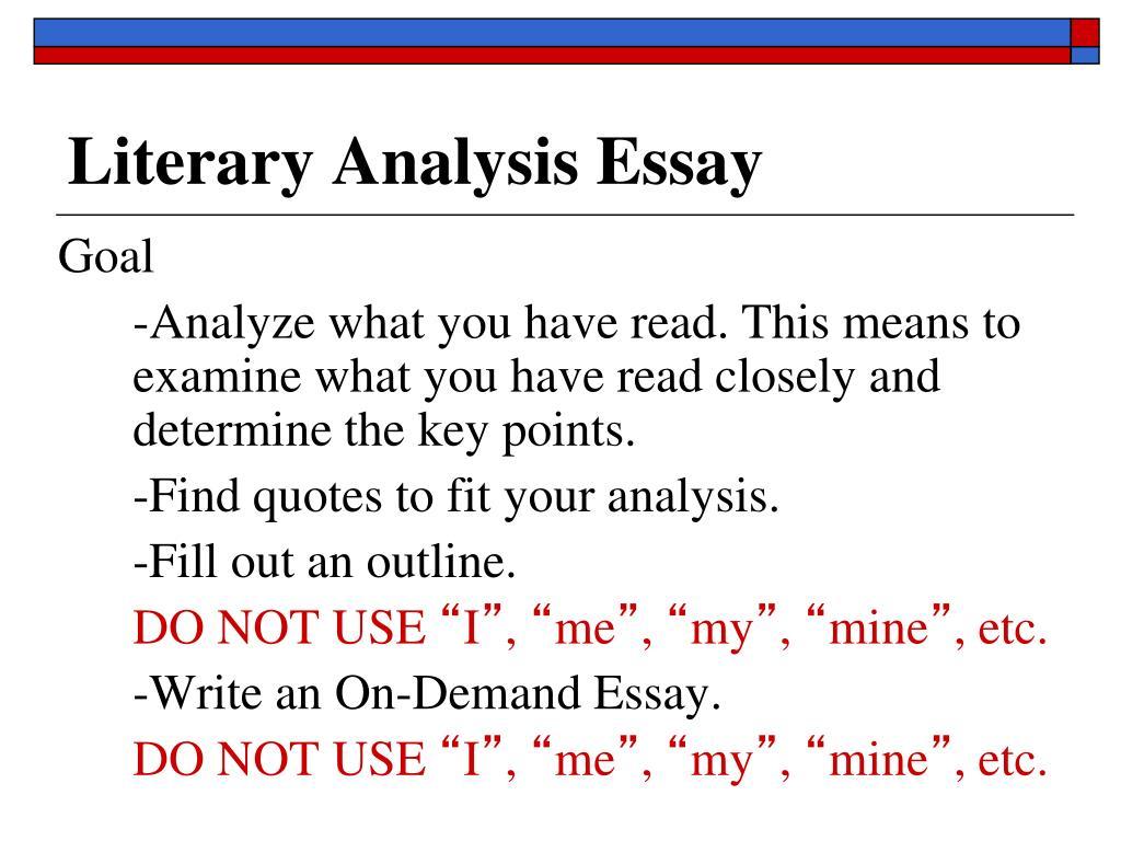 how to analyze a essay