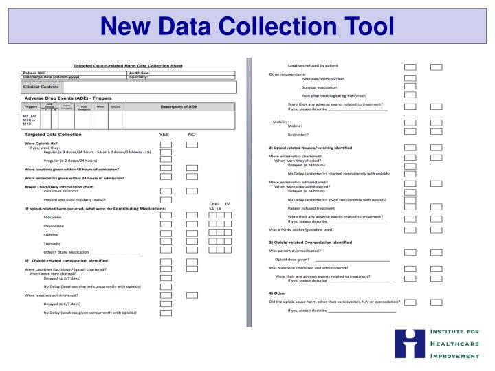 New Data Collection Tool