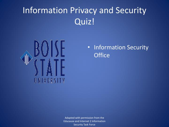information privacy and security quiz n.