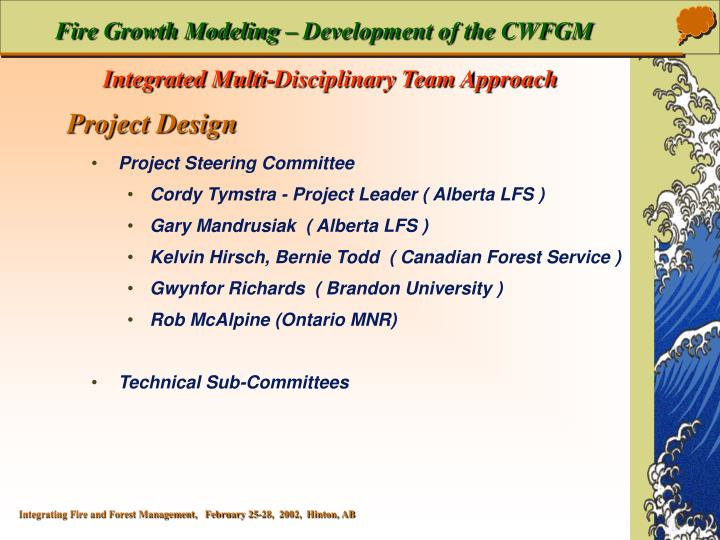 Fire Growth Modeling – Development of the CWFGM