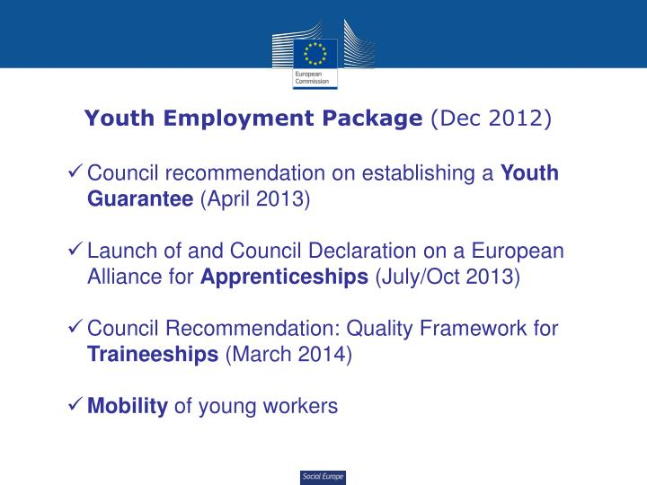 Youth Employment Package