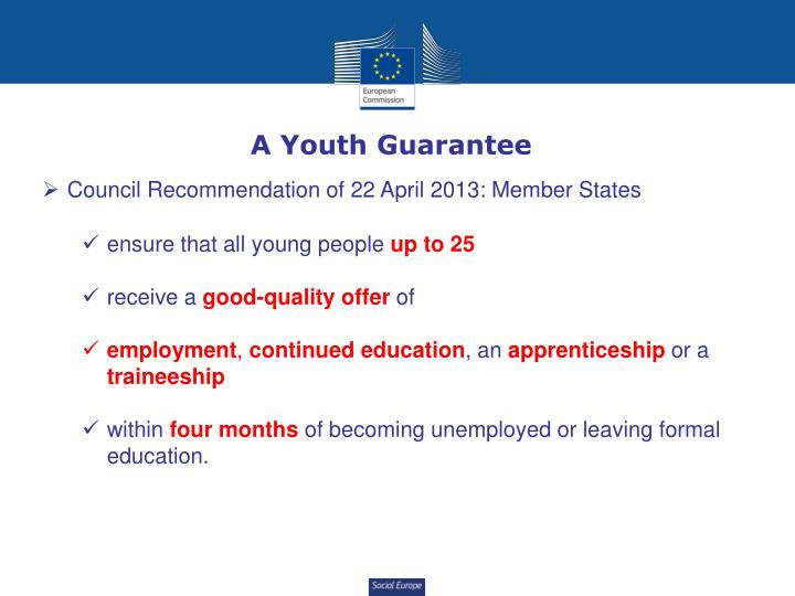 A Youth Guarantee