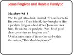 jesus forgives and heals a paralytic