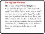 the fig tree withered1