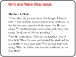 wind and wave obey jesus