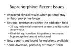 buprenorphine recent issues