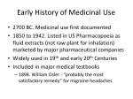 early history of medicinal use