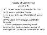history of commercial use in u s