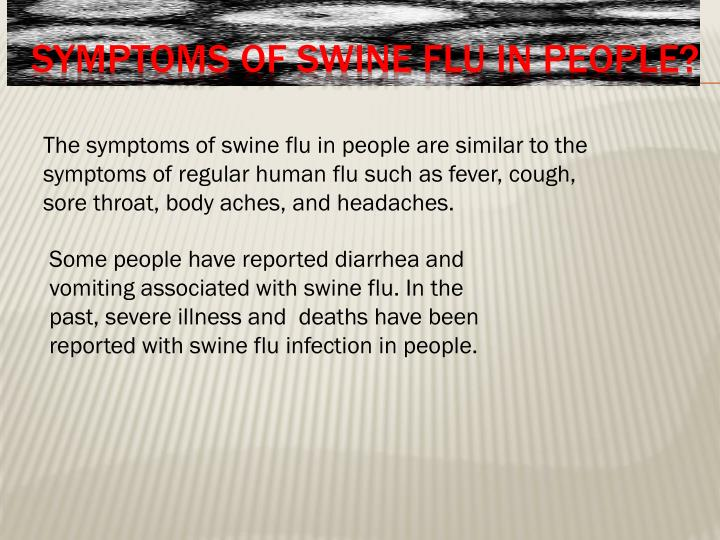 article review on the swine flu The swine flu viruses that usually spread among pigs aren't the same as human flu viruses if these patients develop flu-like symptoms, they would call their doctor, and based on the doctor's clinical an advisory board made up of non-government advisors performs frequent reviews of the safety data.