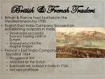 british french traders