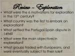 review exploration