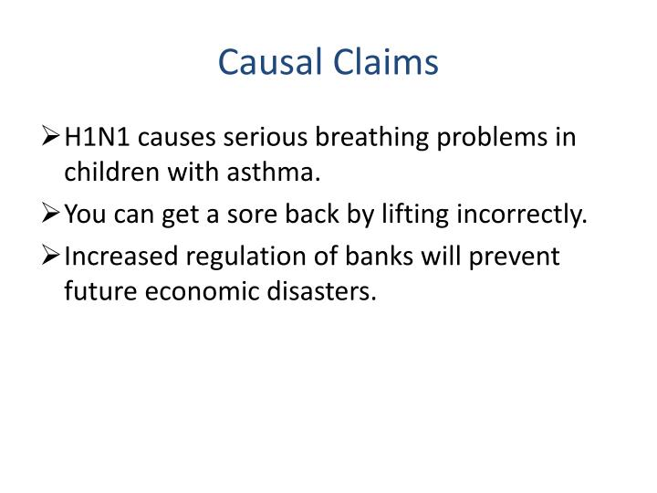 Causal Claims