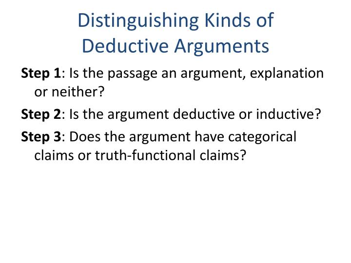 Distinguishing Kinds of