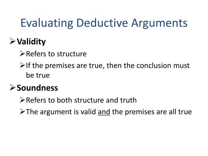 Evaluating Deductive Arguments
