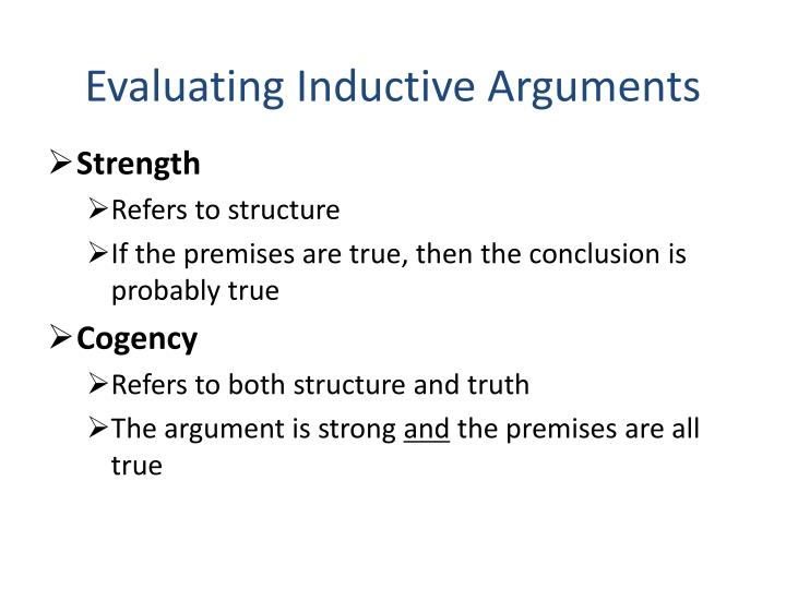 Evaluating Inductive Arguments