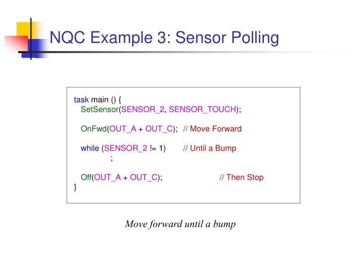 NQC Example 3: Sensor Polling
