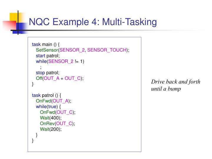 NQC Example 4: Multi-Tasking